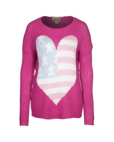 WILDFOX USA Heart Strickpullover Magenta Preis: 214,95 (Sale) auf www.mybestbrands.de