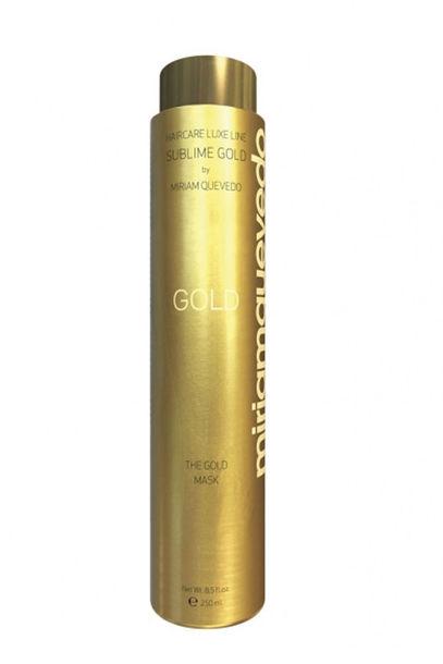 """Luxusmaske: """"The Gold Mask"""" von Miriam Quevedo nährt blondes Haar mit gemahlenem Gold und Kaviar und lässt es golden schimmern, 250 ml um 38 Euro"""