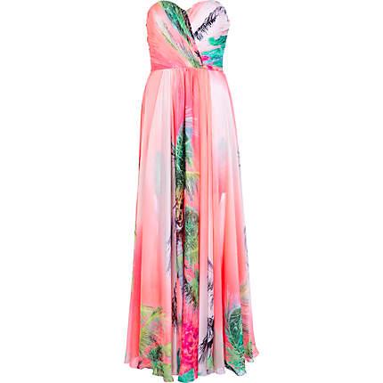 RIVER ISLAND - CORAL FOREVER UNIQUE - Tropisches Maxikleid (365,00 €)  http://eu.riverisland.com/women/dresses/branded-dresses/Coral-Forever-Unique-tropical-maxi-dress-632037